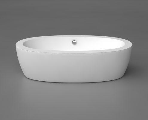 Akmens masas vanna, Ванна из каменной массы, Stone cast bathtub