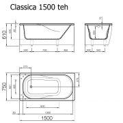 Badkar Classica 150