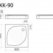 Shower trays: Shower tray kk90