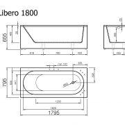 akmens masas vanna Libero 180