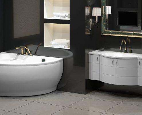 Vannas istabas dizains, santehnikas veikali