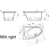 Stūra vanna Mia L
