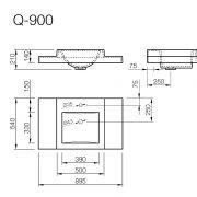 Izlietne Q900, Умывальник Q900