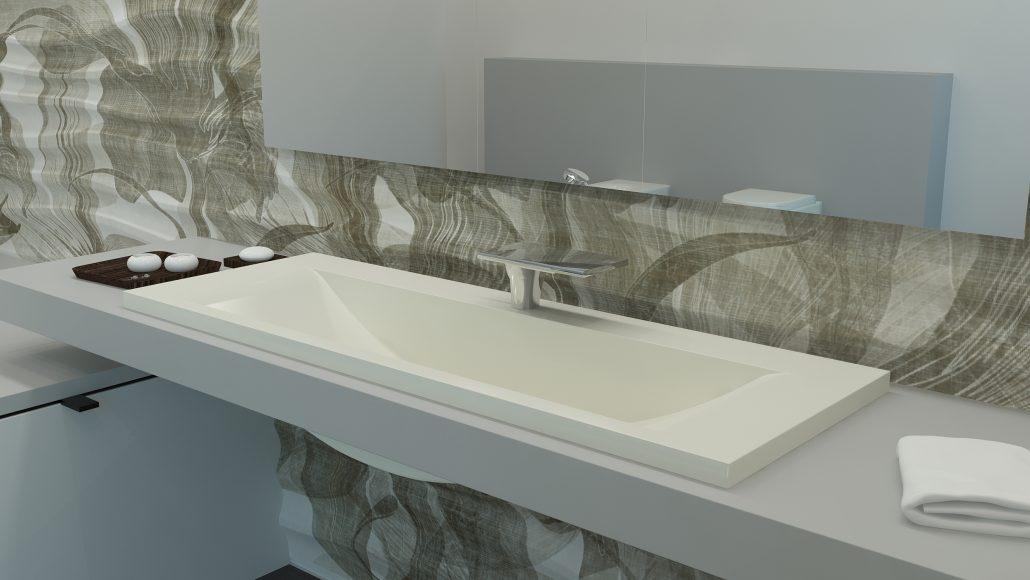 Washbasins: Cast Stone Washbasin Q 1400