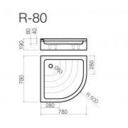 Dušas paliktnis R-80