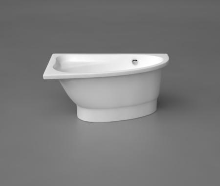 Akmens masas Stūra vanna Mia, Ванна из каменной массы, Stone cast bathtub