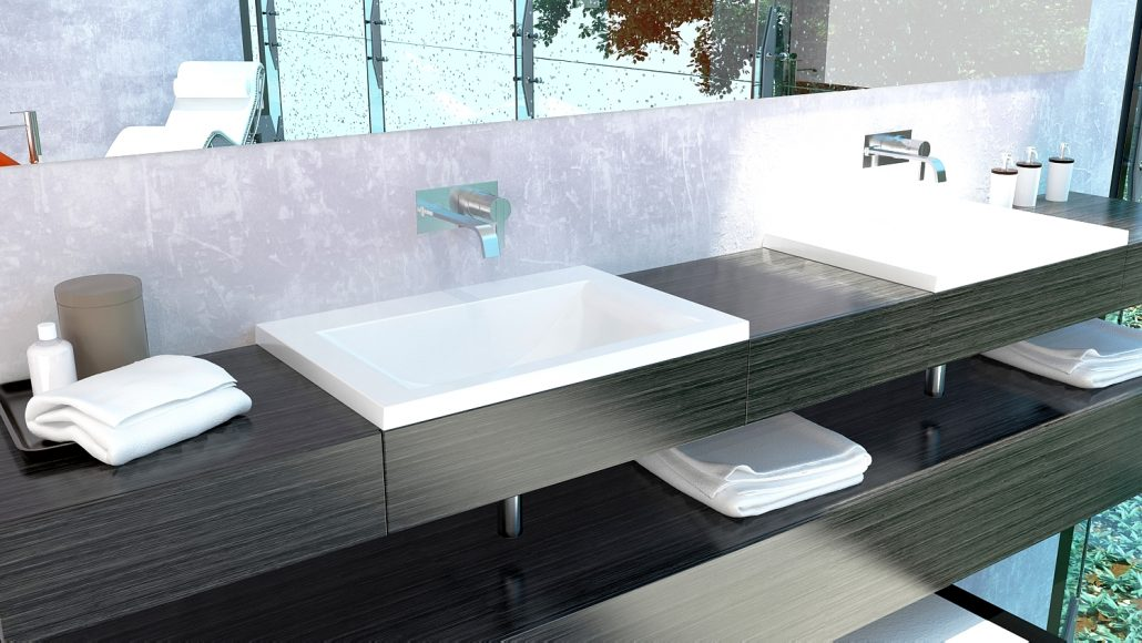 Washbasins: Cast Stone Washbasin Q700