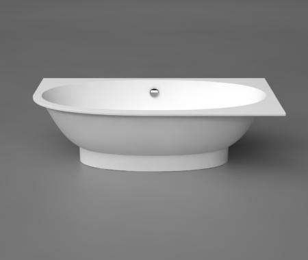 Akmens masas Vanna Gemma 3 Left, Ванна из каменной массы, Stone cast bathtub